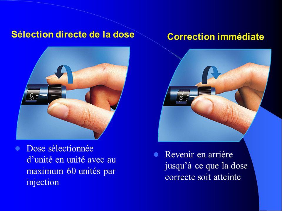 Sélection directe de la dose
