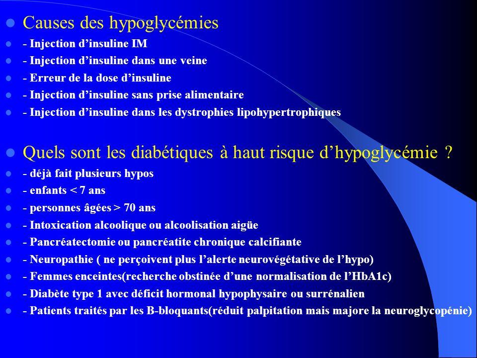 Causes des hypoglycémies