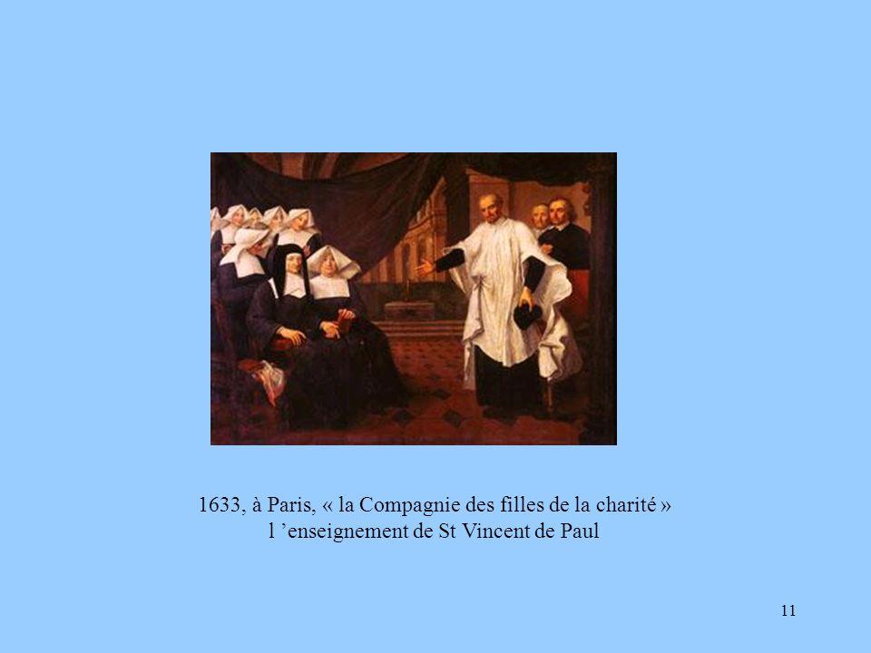 1633, à Paris, « la Compagnie des filles de la charité »