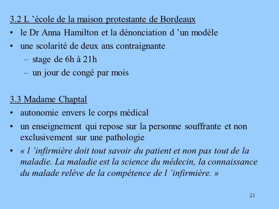 3.2 L 'école de la maison protestante de Bordeaux