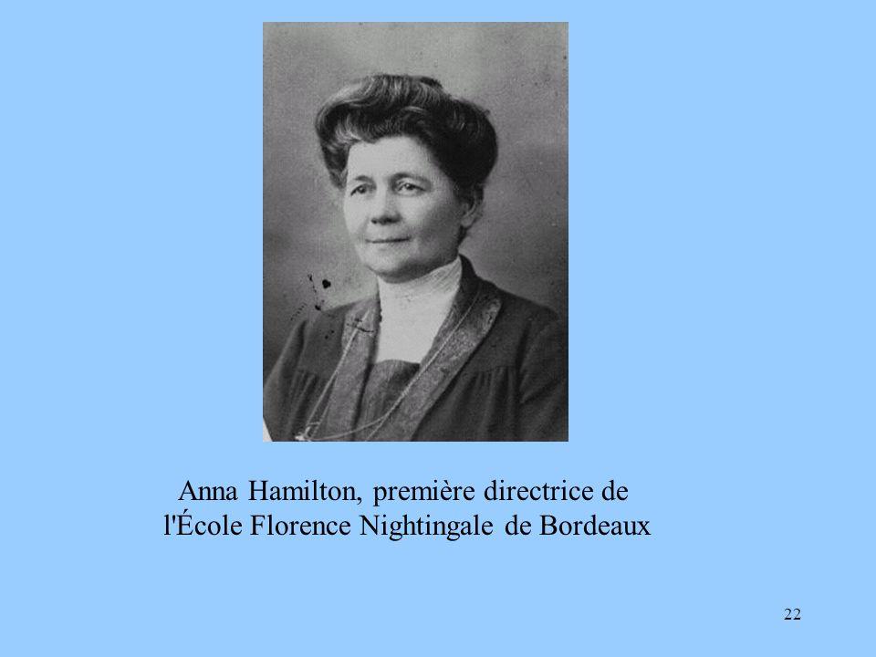 Anna Hamilton, première directrice de