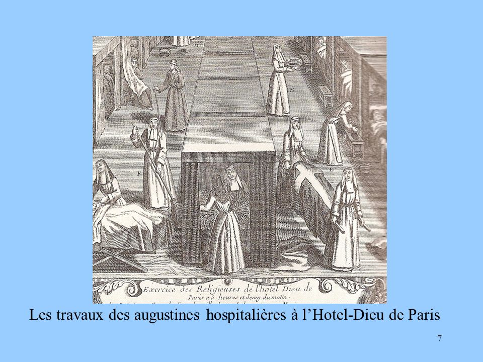 Les travaux des augustines hospitalières à l'Hotel-Dieu de Paris