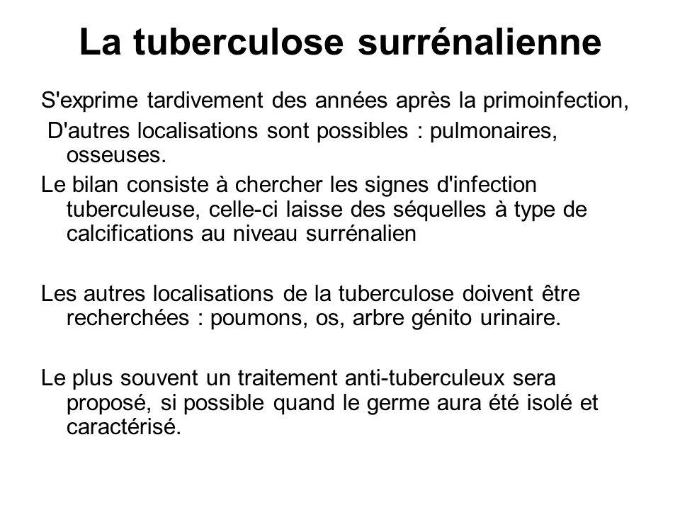 La tuberculose surrénalienne