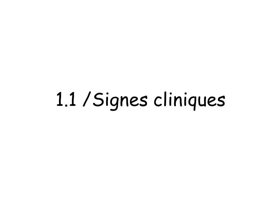 1.1 /Signes cliniques