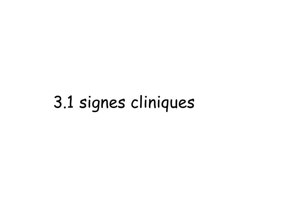 3.1 signes cliniques