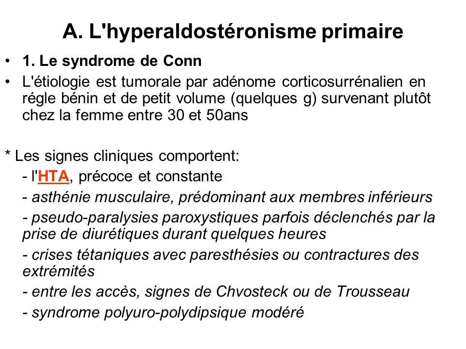 A. L hyperaldostéronisme primaire