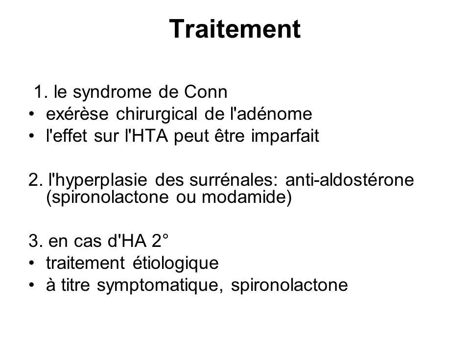 Traitement 1. le syndrome de Conn exérèse chirurgical de l adénome