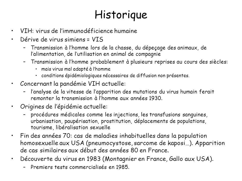 Historique VIH: virus de l'immunodéficience humaine