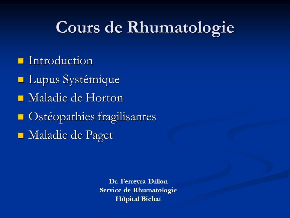 Service de Rhumatologie