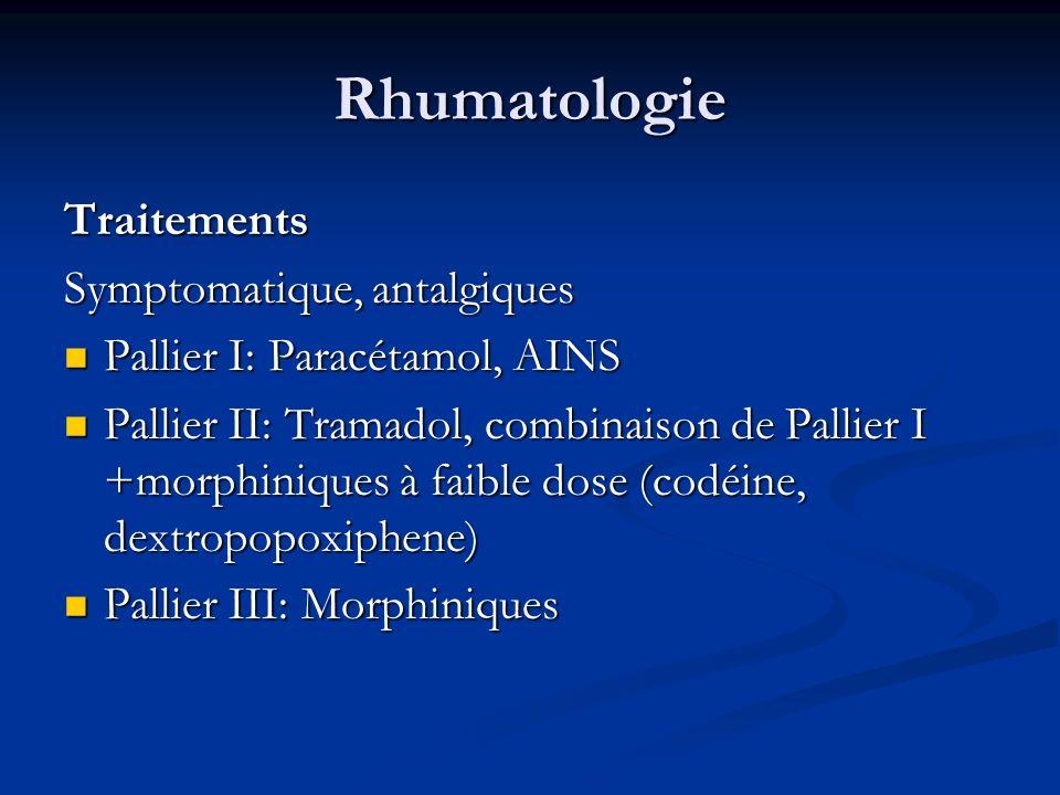 Rhumatologie Traitements Symptomatique, antalgiques