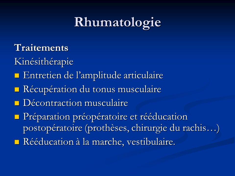 Rhumatologie Traitements Kinésithérapie
