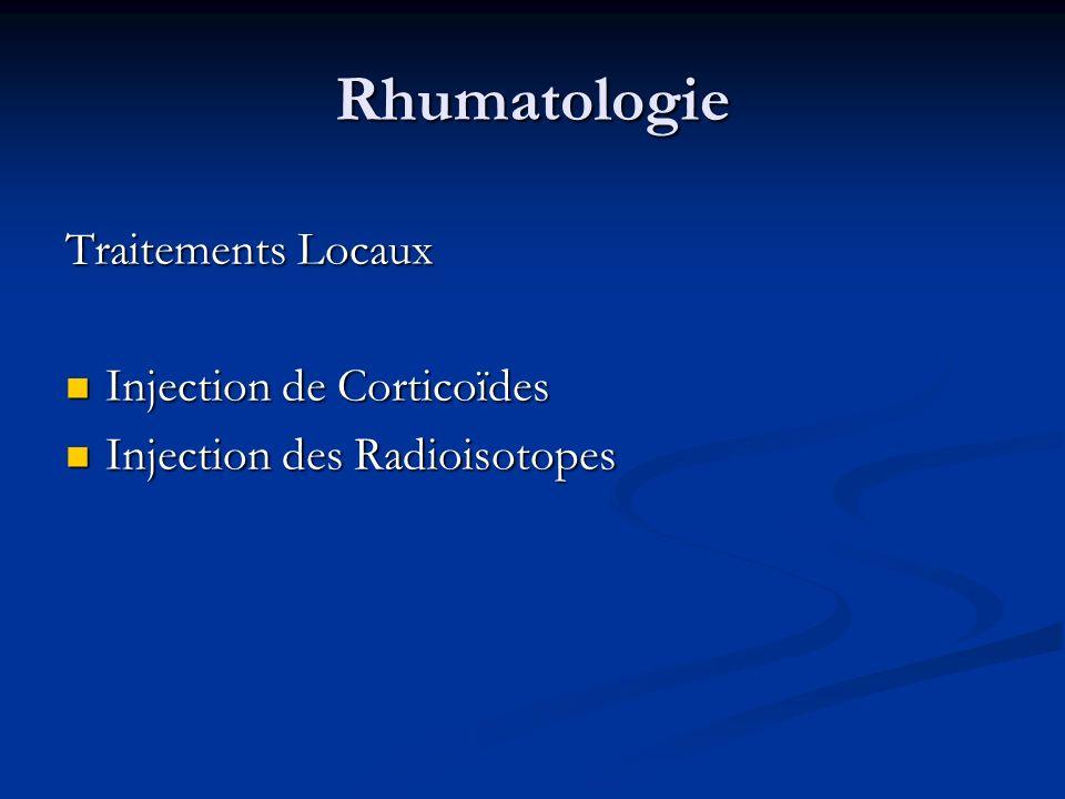 Rhumatologie Traitements Locaux Injection de Corticoïdes