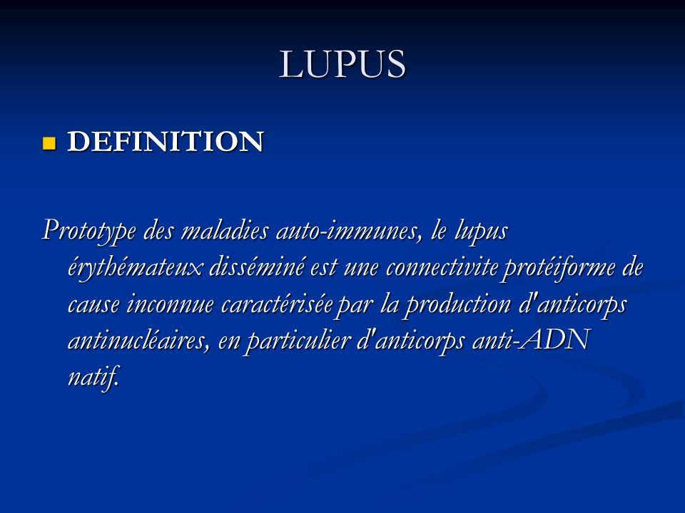 LUPUS DEFINITION.