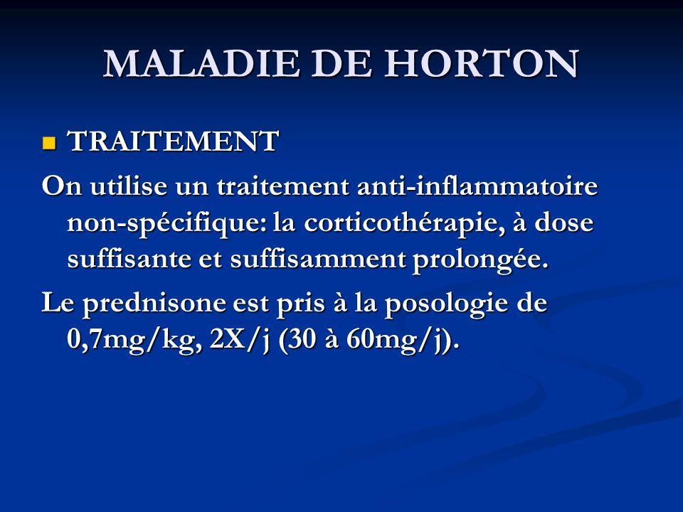 MALADIE DE HORTON TRAITEMENT