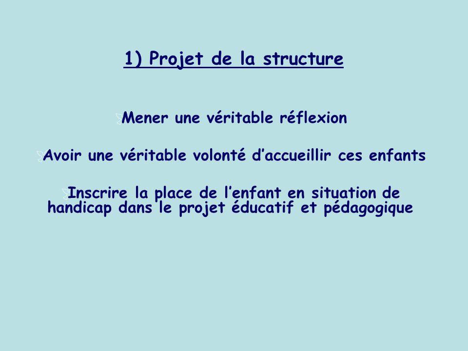 1) Projet de la structure