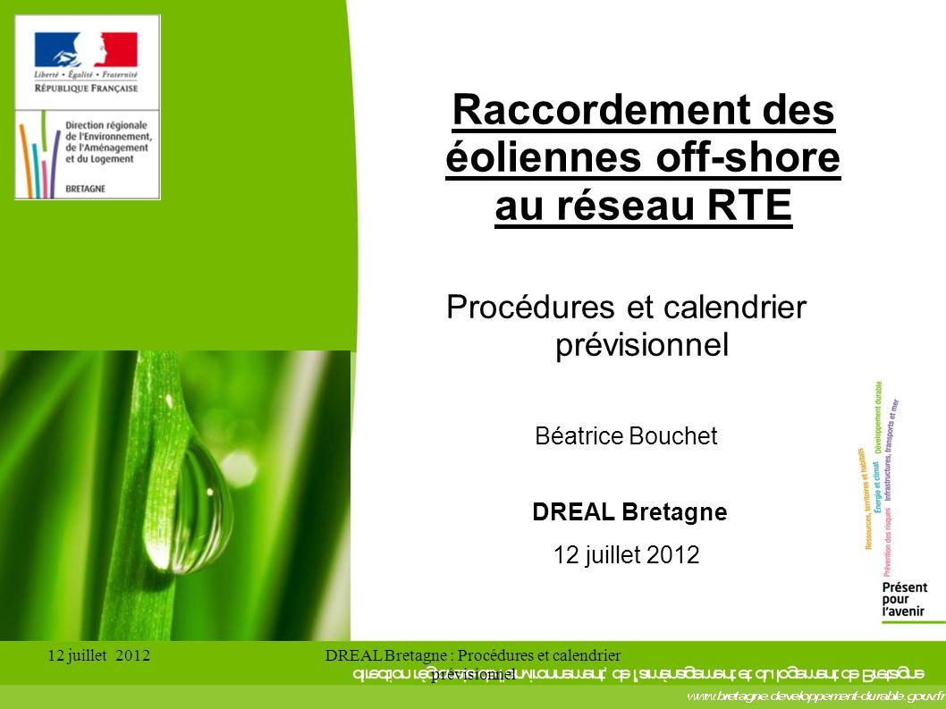 Raccordement des éoliennes off-shore au réseau RTE