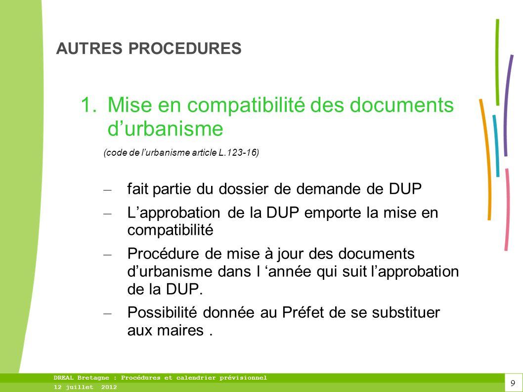 Mise en compatibilité des documents d'urbanisme