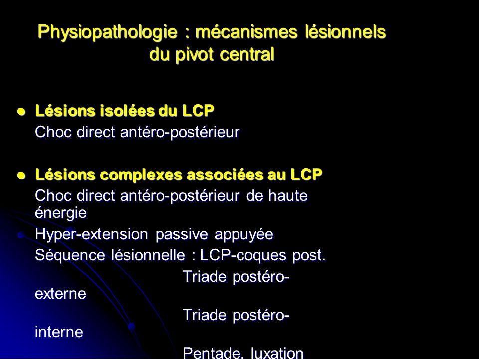 Physiopathologie : mécanismes lésionnels du pivot central