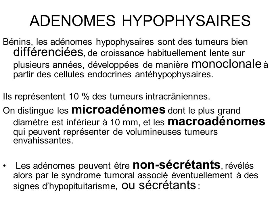 ADENOMES HYPOPHYSAIRES