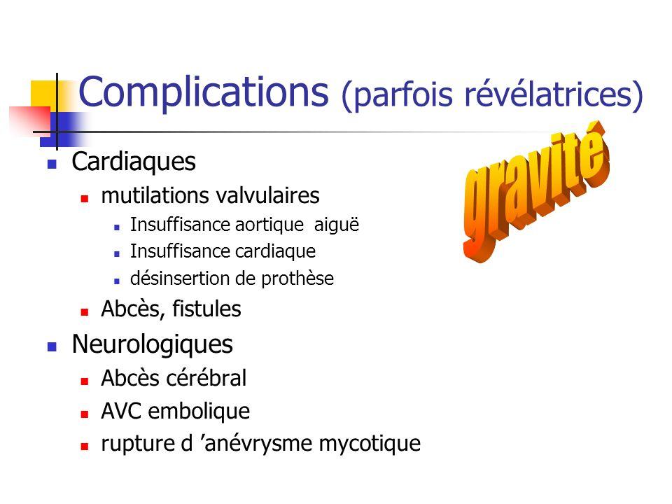 Complications (parfois révélatrices)