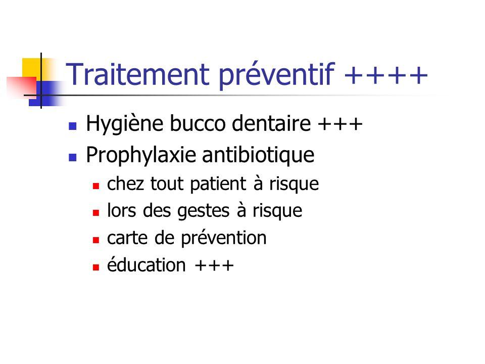 Traitement préventif ++++