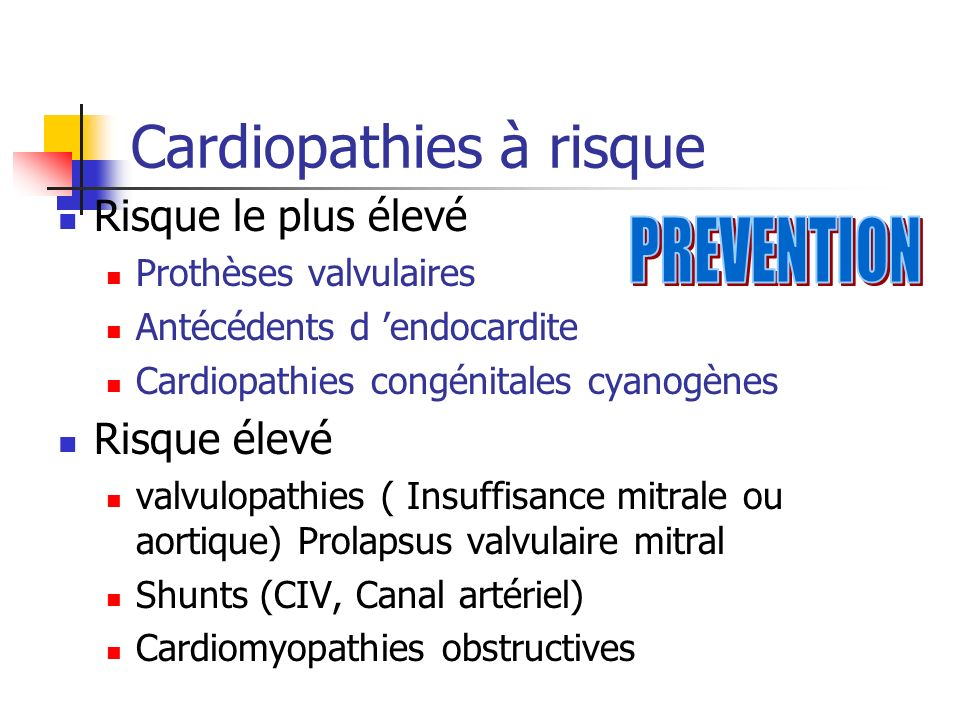 Cardiopathies à risque