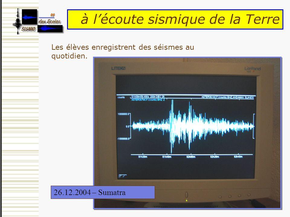 à l'écoute sismique de la Terre