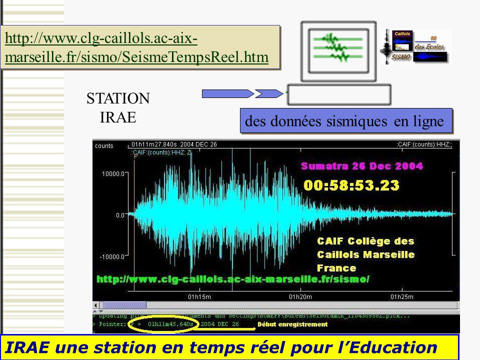 http://www. clg-caillols. ac-aix-marseille. fr/sismo/SeismeTempsReel