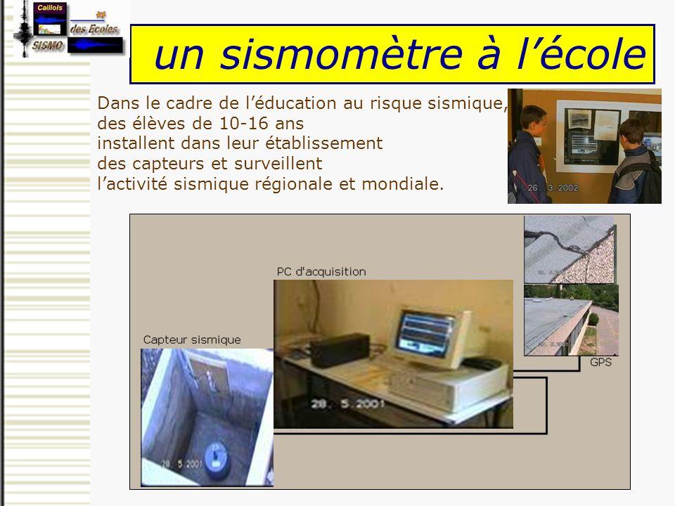 un sismomètre à l'école