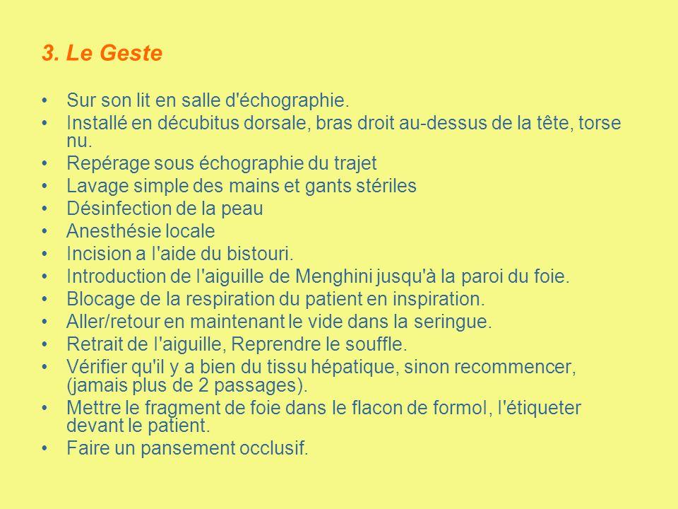 3. Le Geste Sur son lit en salle d échographie.
