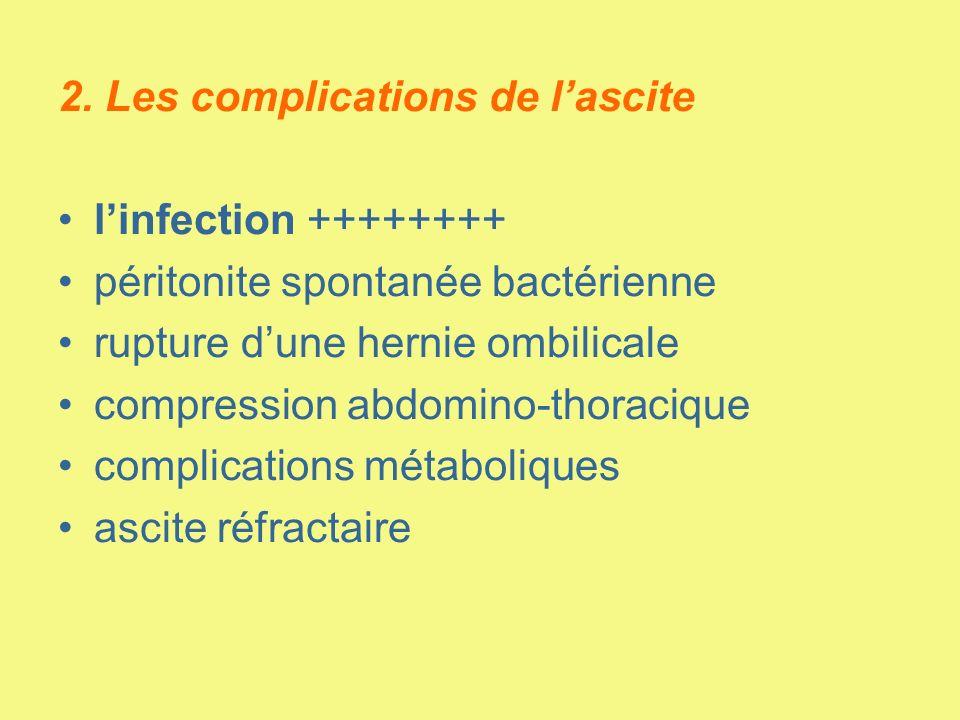 2. Les complications de l'ascite