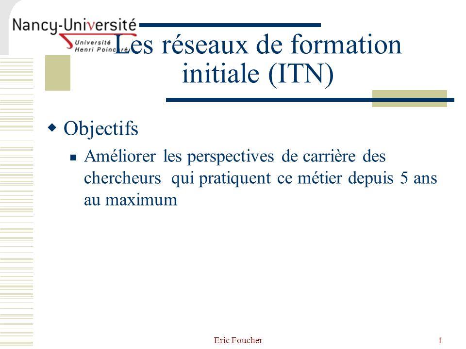 Les réseaux de formation initiale (ITN)
