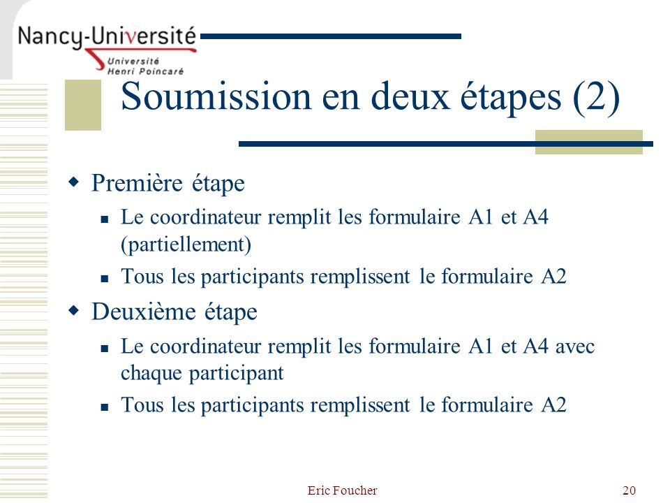 Soumission en deux étapes (2)