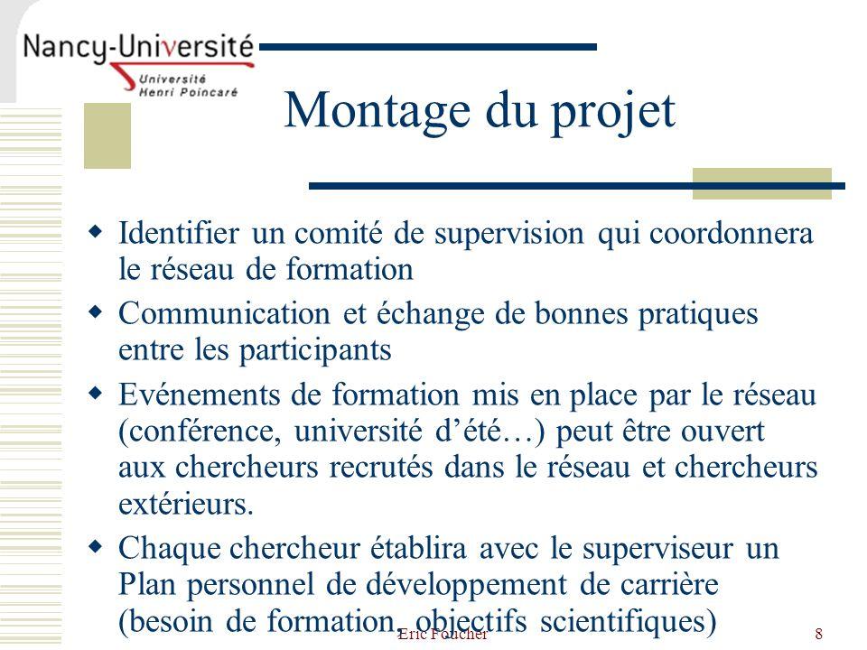 Montage du projet Identifier un comité de supervision qui coordonnera le réseau de formation.