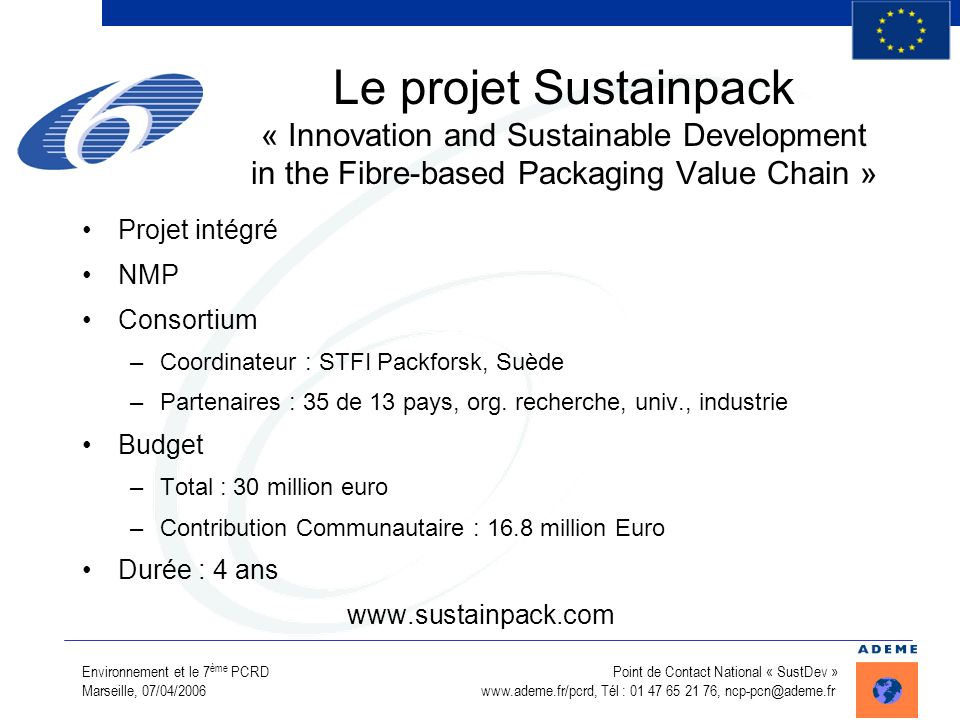 Le projet Sustainpack « Innovation and Sustainable Development in the Fibre-based Packaging Value Chain »