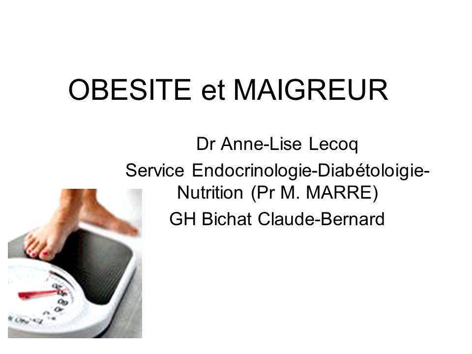 OBESITE et MAIGREUR Dr Anne-Lise Lecoq