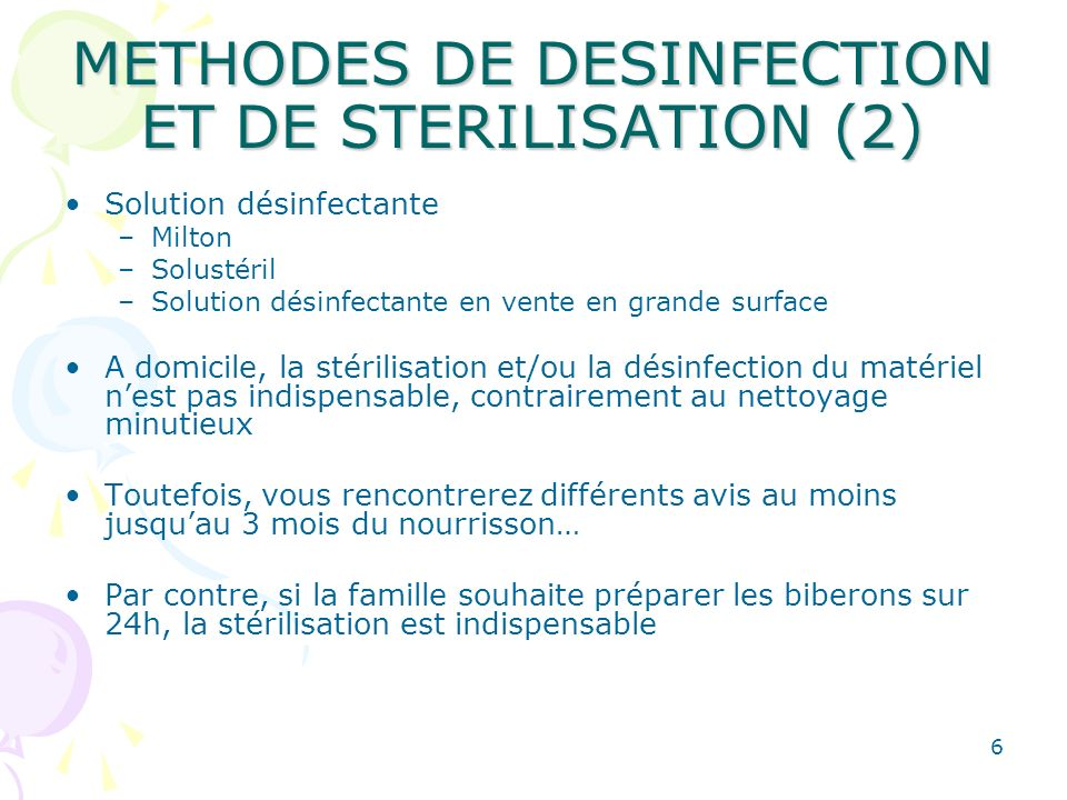 METHODES DE DESINFECTION ET DE STERILISATION (2)
