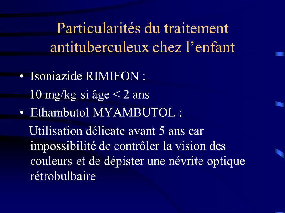 Particularités du traitement antituberculeux chez l'enfant
