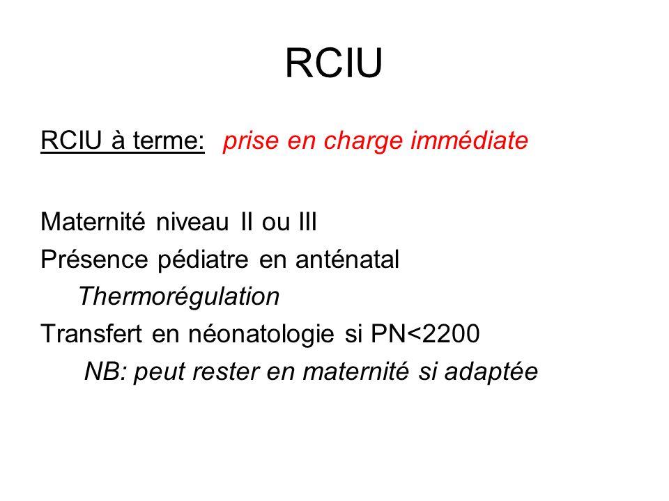 RCIU RCIU à terme: prise en charge immédiate