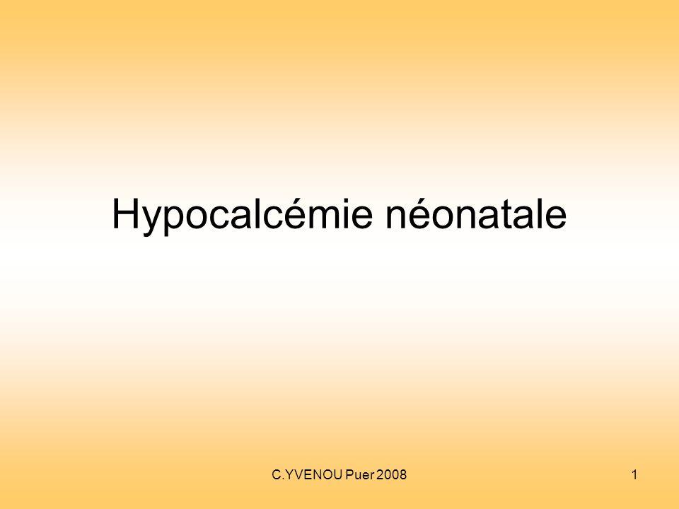 Hypocalcémie néonatale