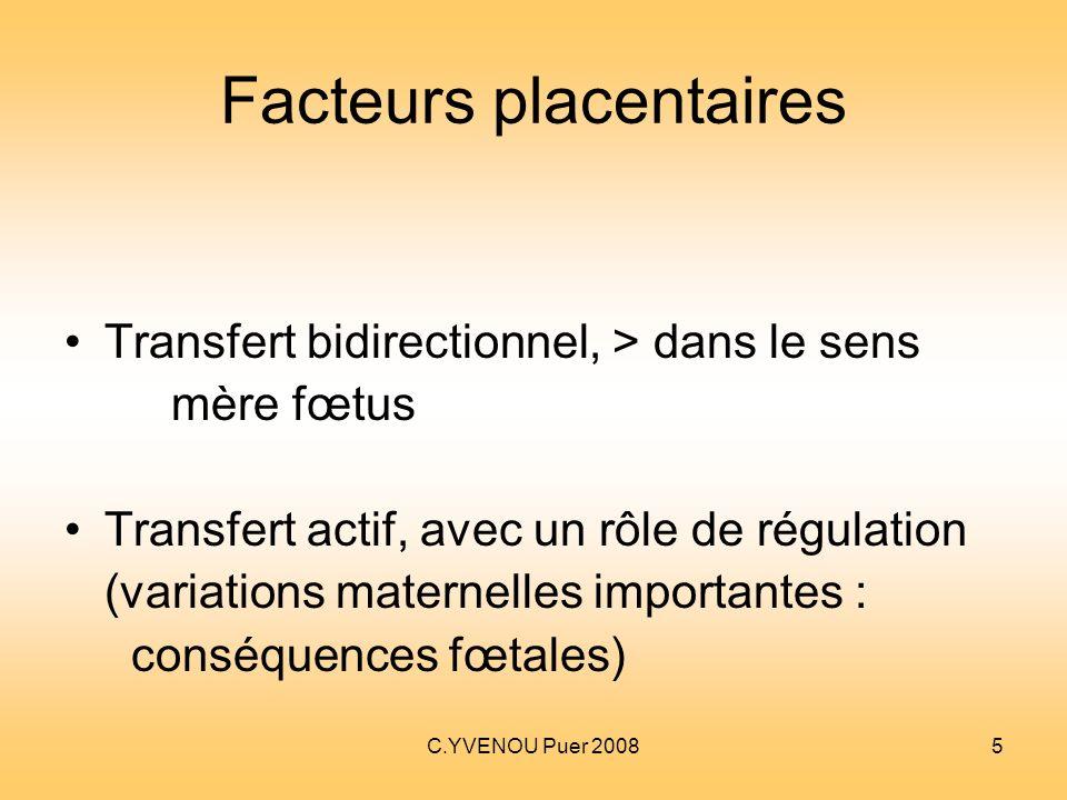 Facteurs placentaires