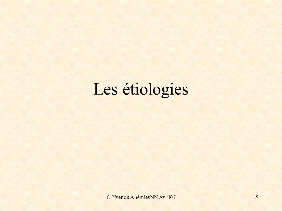 C.Yvenou AnémiesNN Avril07