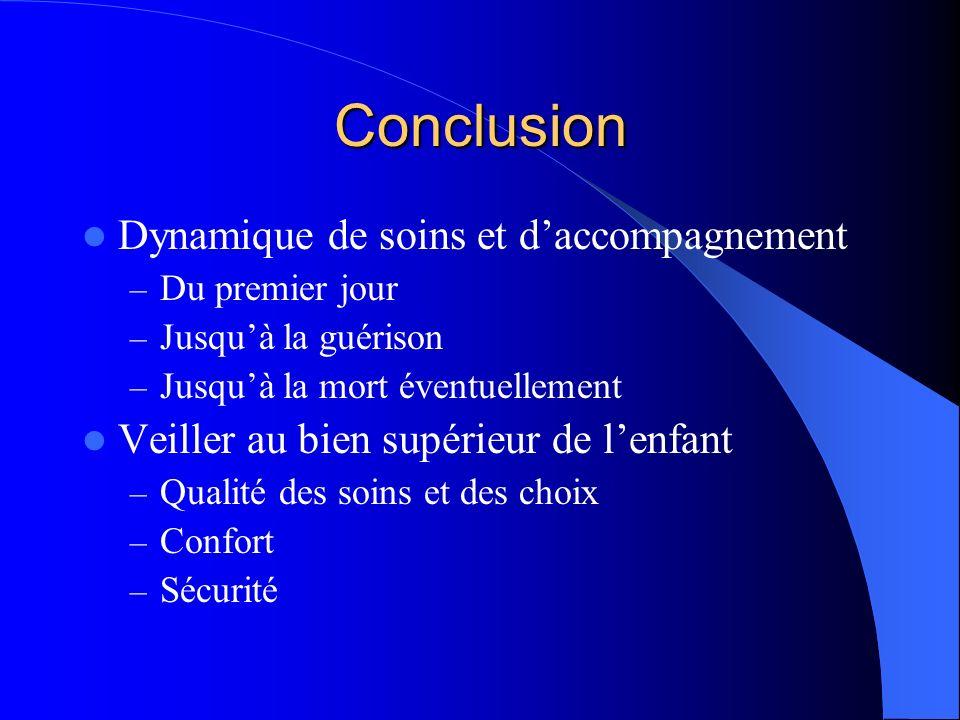 Conclusion Dynamique de soins et d'accompagnement