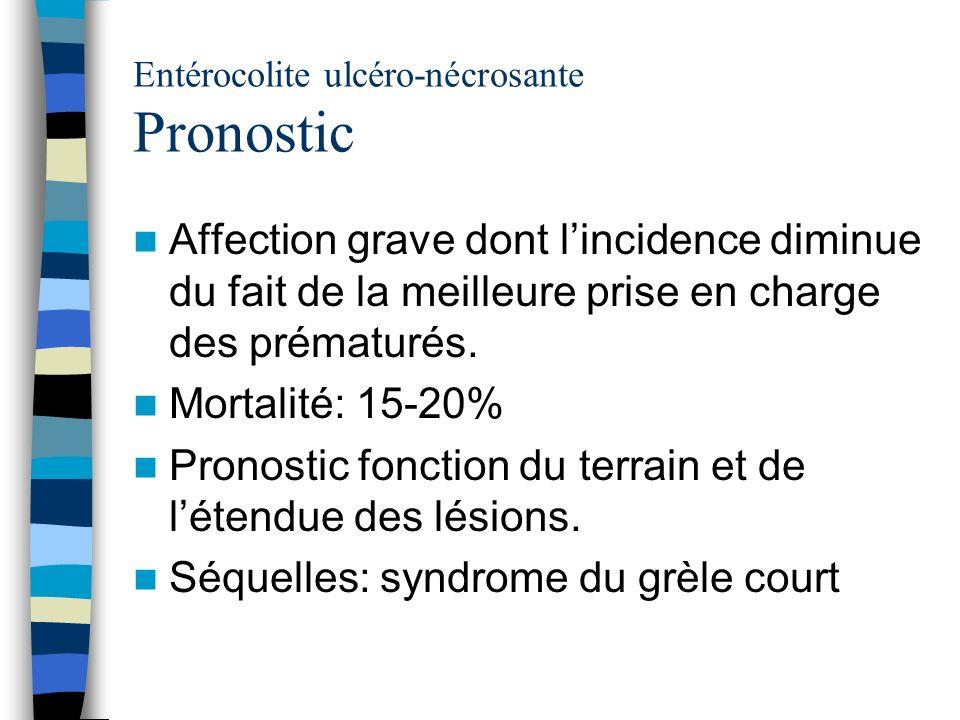 Entérocolite ulcéro-nécrosante Pronostic