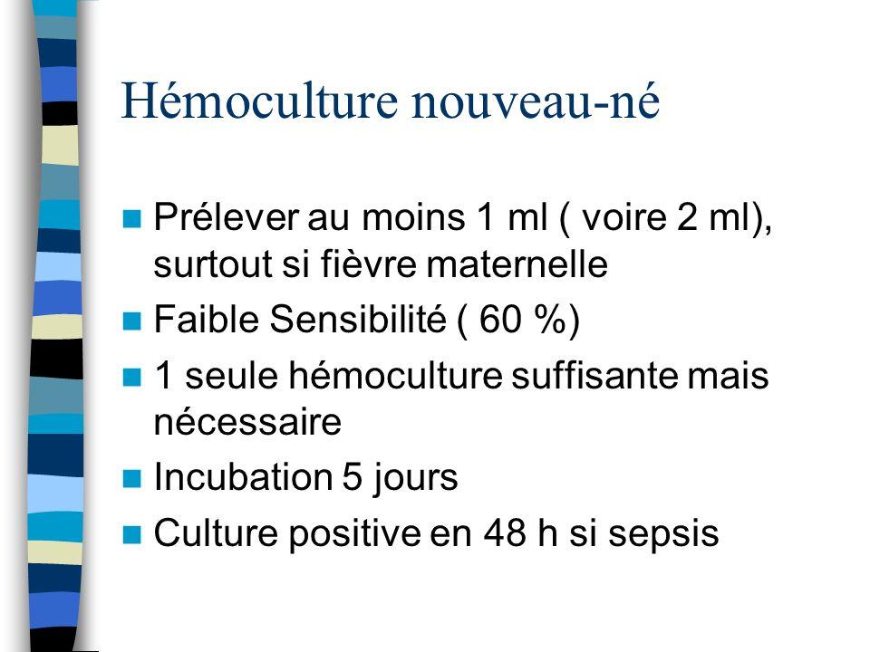 Hémoculture nouveau-né