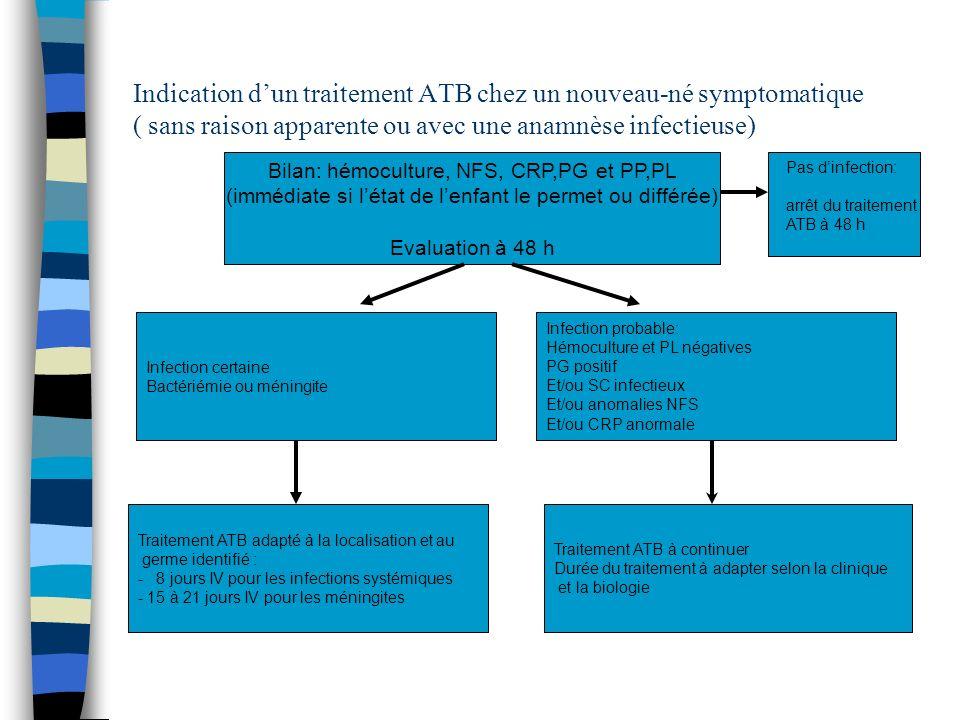 Bilan: hémoculture, NFS, CRP,PG et PP,PL