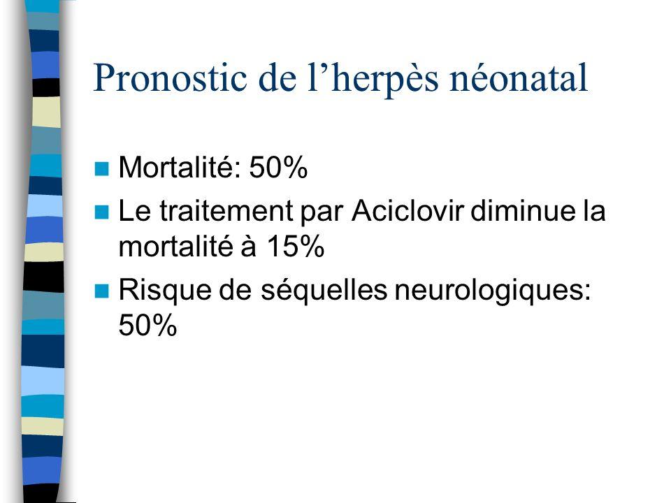Pronostic de l'herpès néonatal