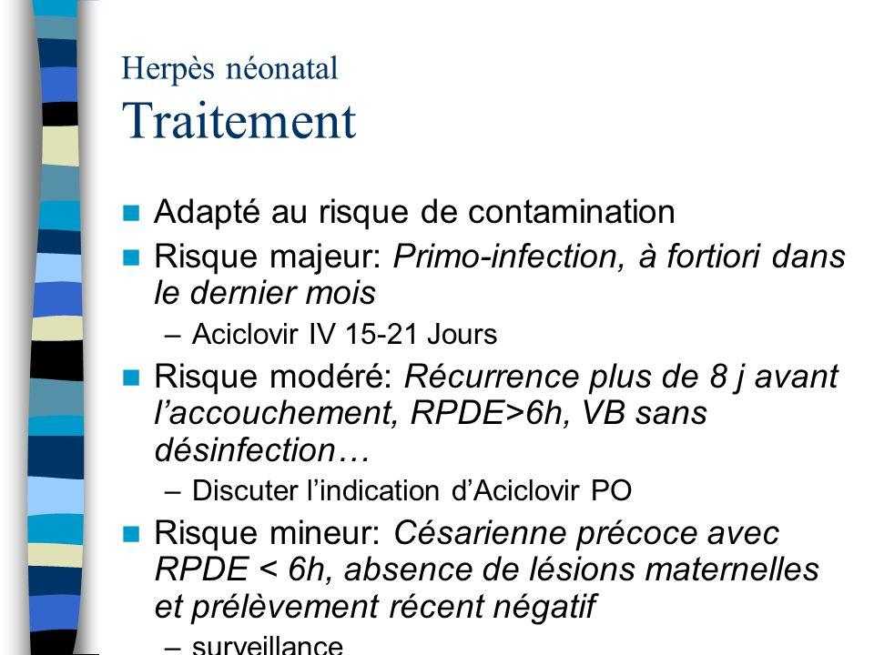 Herpès néonatal Traitement