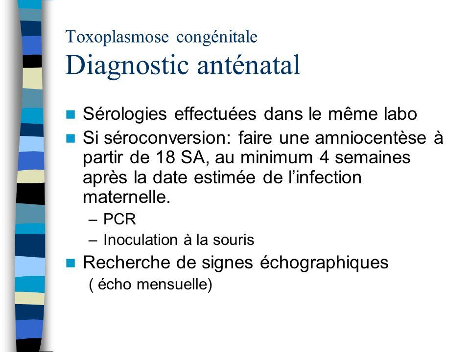 Toxoplasmose congénitale Diagnostic anténatal