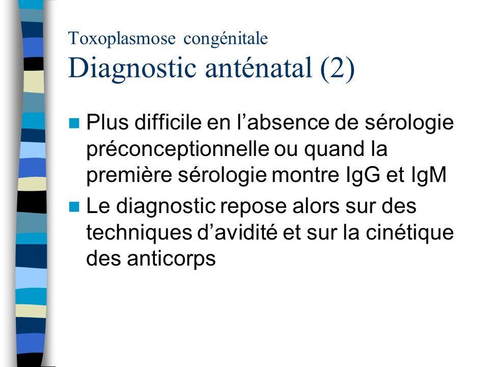 Toxoplasmose congénitale Diagnostic anténatal (2)